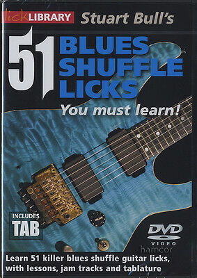 51 Blues Shuffle Licks You Must Learn Lick Library Guitar DVD by Stuart Bull