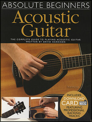 Absolute Beginners Acoustic Guitar TAB Book/Download Card Learn To Play Method