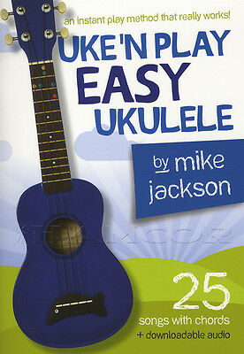 Uke'n Play Easy Ukulele Chord Songbook Method Learn How To Play Book with Audio