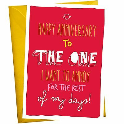 The One I Want to Annoy - Anniversary Greeting Cards