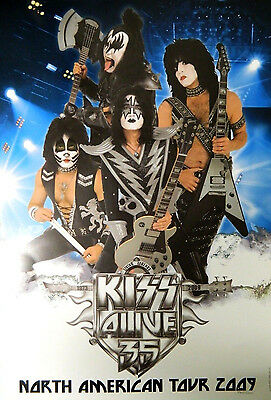 KISS Alive 35 North American Tour 2009 Numbered Lithograph Poster