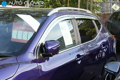 For Nissan Qashqai 2014+ Chrome Wind Deflectors Set (6 pieces)
