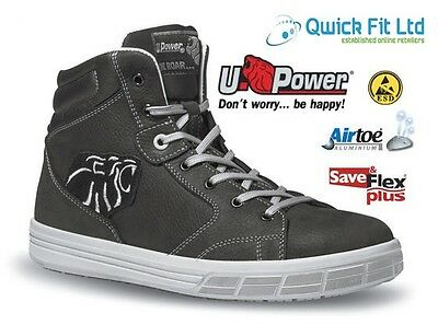 Mens Upower Waterproof Leather Safety Work Boots Shoes Steel Toe Cap Trainers