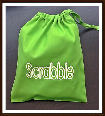 Scrabble Tile Letter Spare Cotton Drawstring Bag Gift Xmas Board Game New