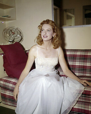 Deborah Kerr rare vintage portrait in white dress 8x10 Photo