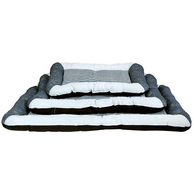 Charles Bentley Grey & Cream Soft Square Pet Bed Washable - Available in 3 Sizes