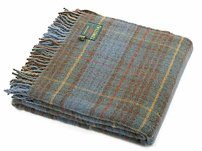 Antique Hunting Stewart tartan check wool picnic blanket throw rug BRITISH MADE