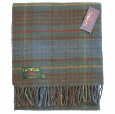 Tartan knee rug Antique Hunting Stewart Pure new wool British Made blanket throw