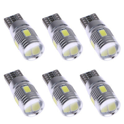 6 X Car LED White Lights Canbus T10 5630 6SMD Decoding W5W Show Wide Lights 3W