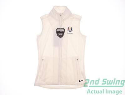 New Womens Nike 2016 Ryder Cup Shield Wind Vest X-Small XS White MSRP $78
