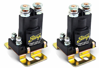 2 Pack Stinger 80 Amp Power Relay Dual Battery Isolators 12V High Current SGP38
