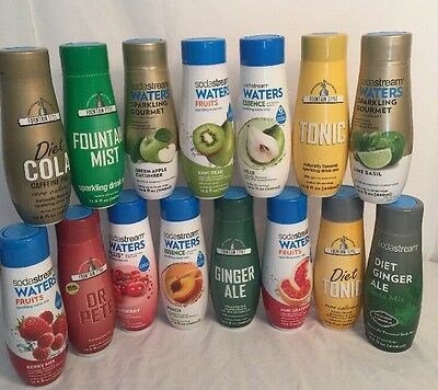 PICK 5 SodaStream Mixes YOUR CHOICE Waters Plus Fruits Soda Cola Tonic Berry ETC