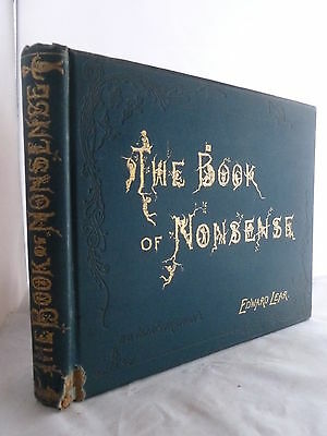 1889 - The Book of Nonsense by Edward Lear - Decorative HB - Illustrated