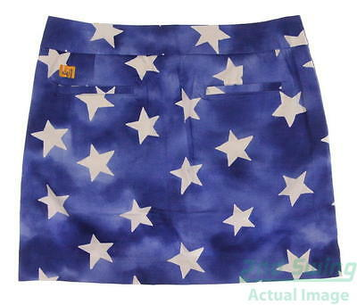 New Womens Loudmouth All-Stars Pattern (White Stars on Blue) Skort Size 6