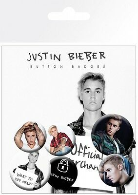 Justin Bieber - Mix 2 Button Set (15x10cm) #96201