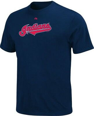 MLB - Cleveland Indians Navy Wordmark Small T-Shirt