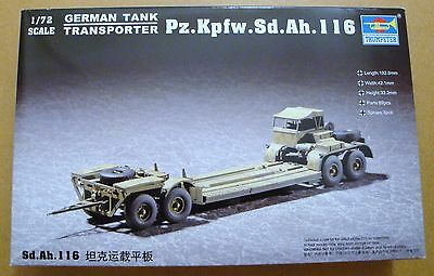 TRUMPETER® WWII German Tank Transporter Pz.Kpfw.Sd.Anh.116 in 1:72
