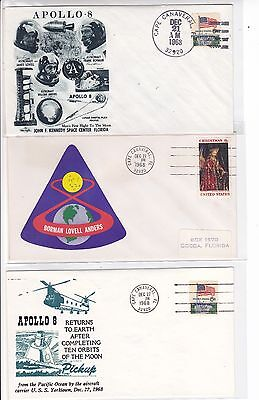 Apollo 8 Mission & Anniversary 7 Covers Space FIRST Manned Mission to the Moon!
