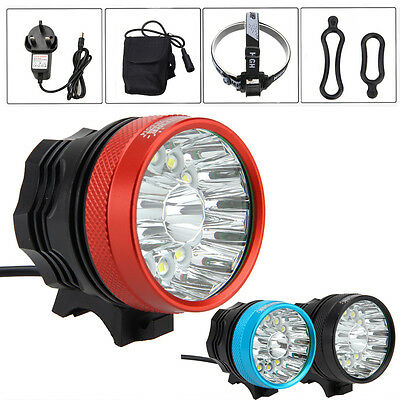 40000LM 14x XML T6 LED Mountain Bike Bicycle Cycle Light Front Lamp Torch6x18650