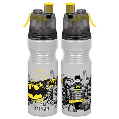 Batman Drink Bottle & Water Mister Misting Sport School Gym Work Birthday Gift