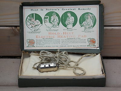 Vintage Electric Heating Pad w/ Box HOLD-HEET by RUSSELL ELECTRIC COMPANY