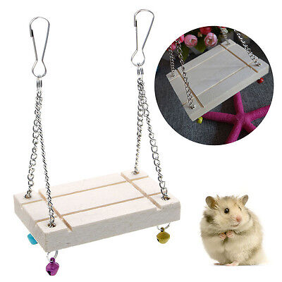 Hamster Toys Seesaw Rat Swing Mouse Harness Parrot Wooden Hamster Swing HOT SALE