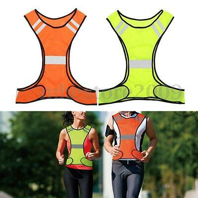 Night Work Reflective Vest Security Safety Gear Stripes Jacket High Visibility