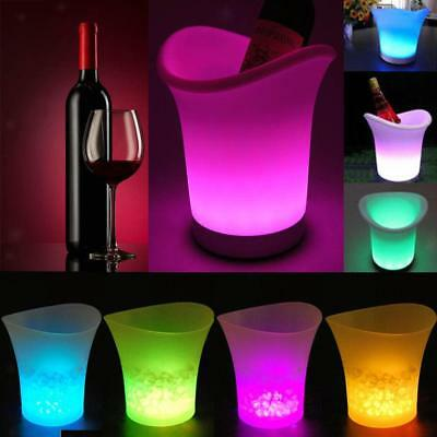 LED ICE BUCKET Colour Changing Champagne Wine Drinks Cooler Light up Glowing