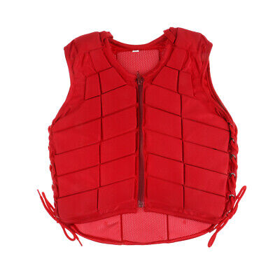 Horse Riding Vest Safety EVA Padded Equestrian Waistcoat Red Youth Adult