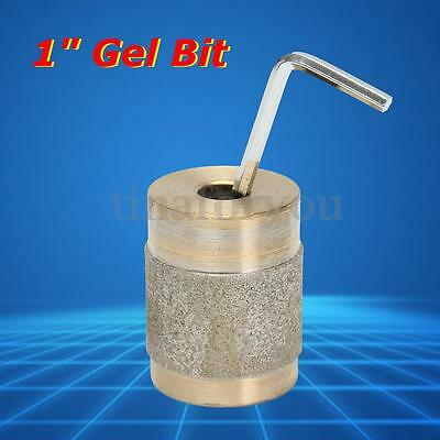 1'' Golden Metal Brass Chrome Plating Gel Bit for Stained Glass Grinder Tools