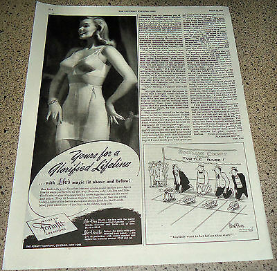 1947 LIFE FORMFIT BRA & GIRDLE Vintage Lingerie Pin Up AD Ladies Underwear