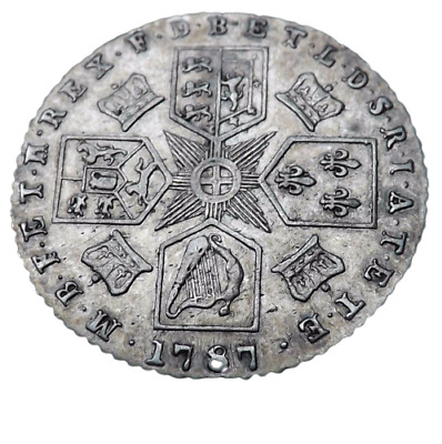 1787 George III Silver Sixpence Coin Great Condition - Ref;H/D