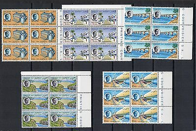 IRAQ  1957 DEVELOPMENT Stamps SET 5v SG389-393 Block of 6 Unmounted Mint RE:QE27
