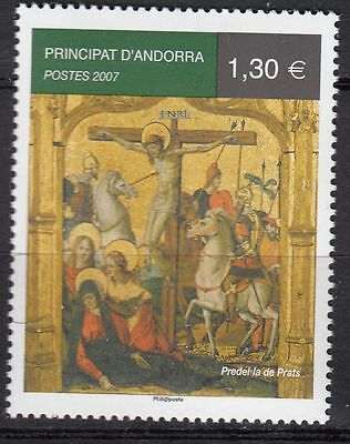 Timbre Andorre France Neuf N° 637  **  Jesus Christ