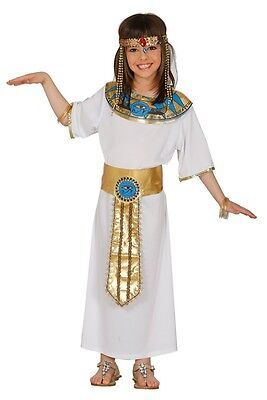 Girls Ancient Egyptian Ruler Queen Cleopatra Fancy Dress Costume Outfit 5-12 yrs