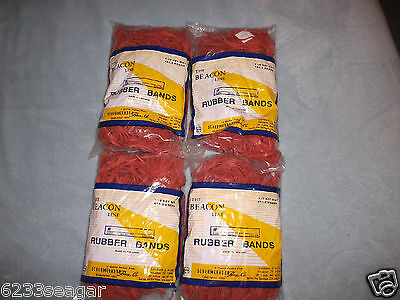 4 -1LB BAGS, Universal Rubber Bands, Size #32, 2/1/2 x 1/8,