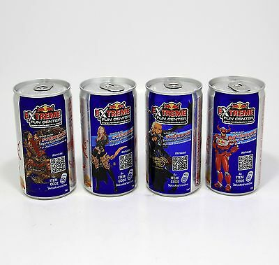 REDBULL EXTRA Extream Fun Ceter Energy drink complete set 4 cans 180ml game