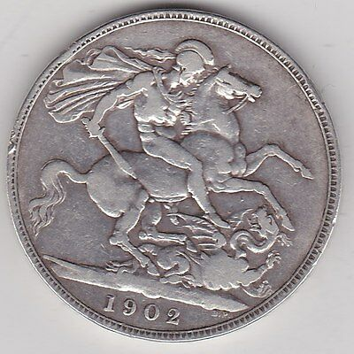 1902 Edward Vii Silver Crown In Good Fine Condition