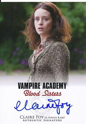 Vampire Academy Blood Sisters Claire Foy As Sonya Autograph Card  A