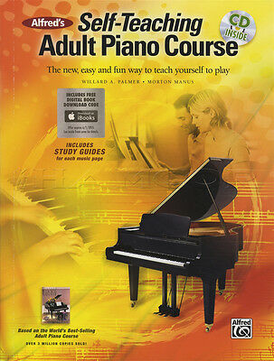 Alfred's Self-Teaching Adult Piano Course Music Book with CD Learn How To Play