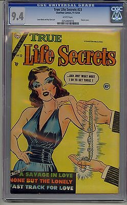 True Life Secrets #23 Cgc 9.4 White Pages Classic Prostitution Cover