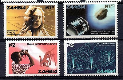 Zambia (795) 1986 Appearance of Halley's Comet set Lightly mounted Sg464-7