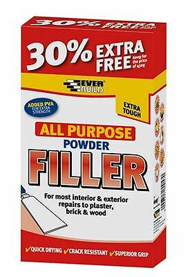Everbuild All Purpose Powder Filler Plaster Brick Wood Extra Strength 600G