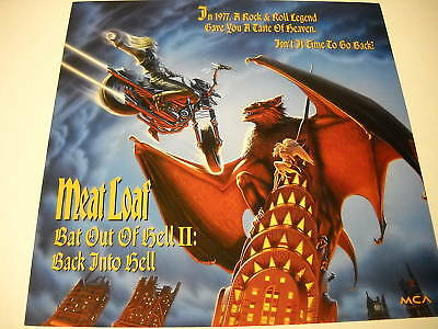 MEAT LOAF 2-sided PROMO COLLECTOR FLAT Bat Out Hell II
