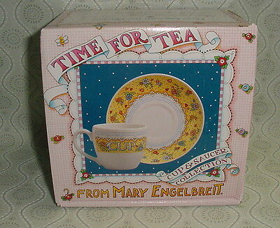 Mary Engelbreit TIME FOR TEA Cup & Saucer w/Box