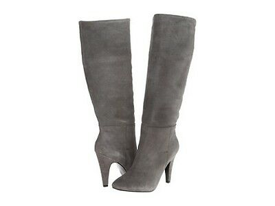 Steve Madden Sienah Gray Suede Pointy Toe Fashion Knee High Boots