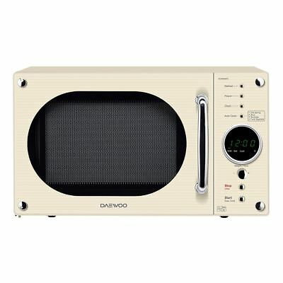 Daewoo KOR8A9RC Retro Style Microwave with 23L Capacity and 800W Power in Cream