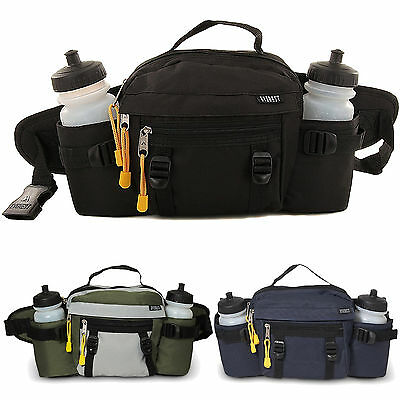 Everest Dual Squeeze Hydration Fanny Pack & Squeeze Water Bottles for Hiking wal