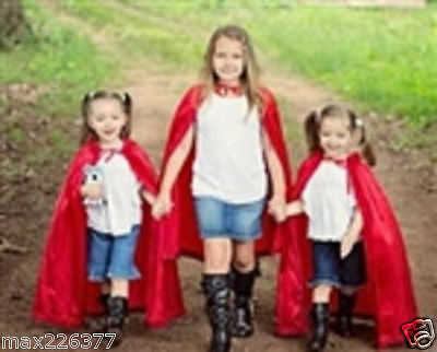 New Girl Child CAPE Hooded Halloween Costume little red riding hood princess ⭐