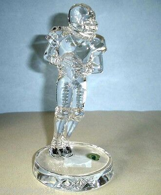 Waterford Football Player Crystal Sculpture Figurine Made in Slovenia New